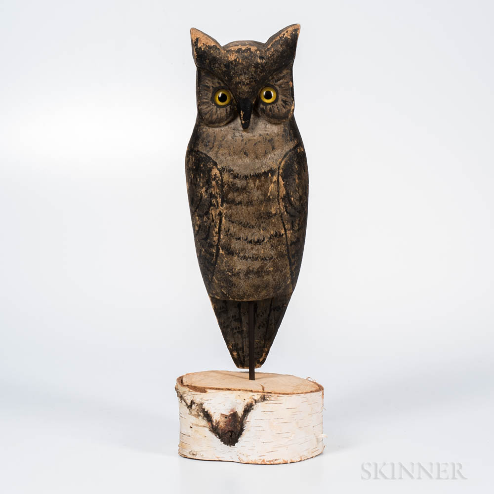 Carved and Painted Owl Decoy