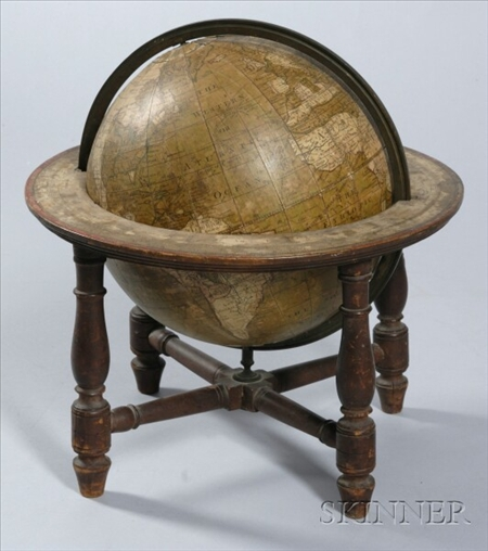 9-inch Wright's New Improved Terrestrial Globe