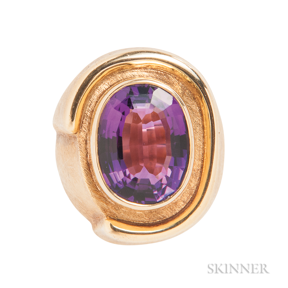 18kt Gold and Amethyst Ring, Burle Marx