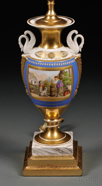 Paris Porcelain Lamp Base