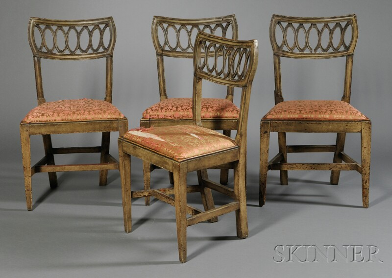 Four Provincial Side Chairs