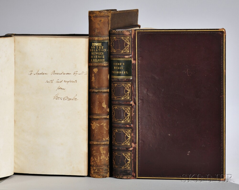 Combe, George (1788-1858) Three Signed Titles.