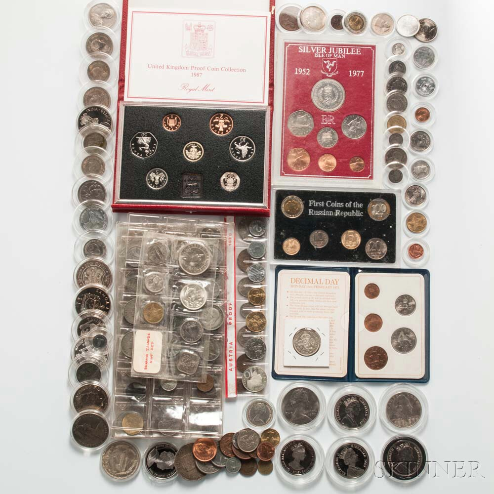 Large Group of Assorted World Coins