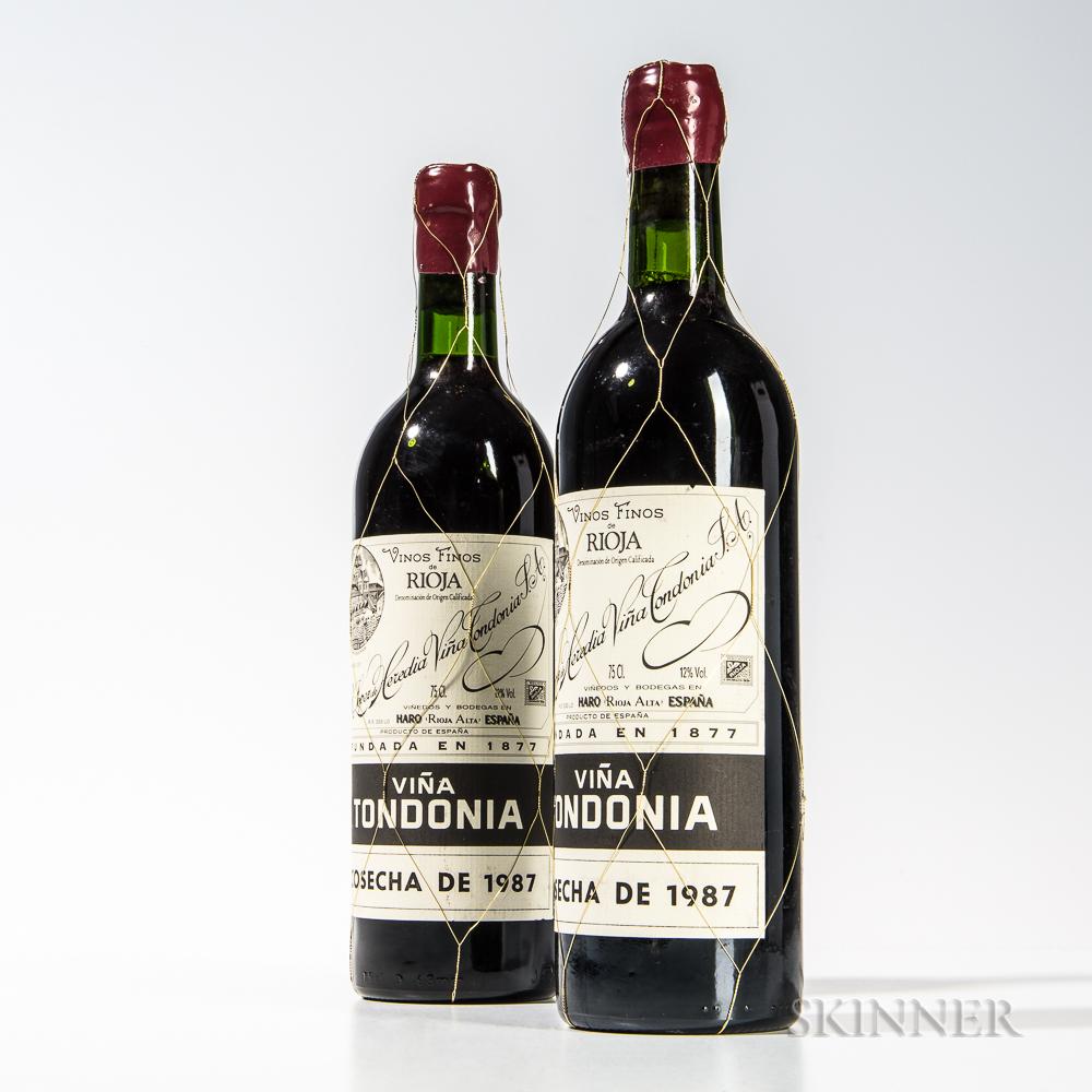 R. Lopez de Heredia Vina Tondonia Gran Reserva 1987, 2 bottles