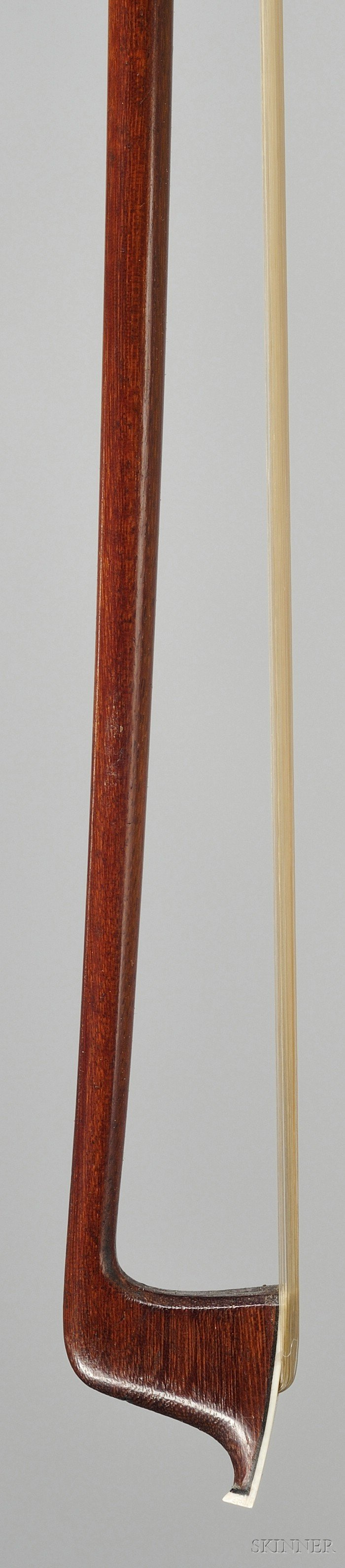 French Silver Mounted Violin Bow, Francois Nicolas Voirin