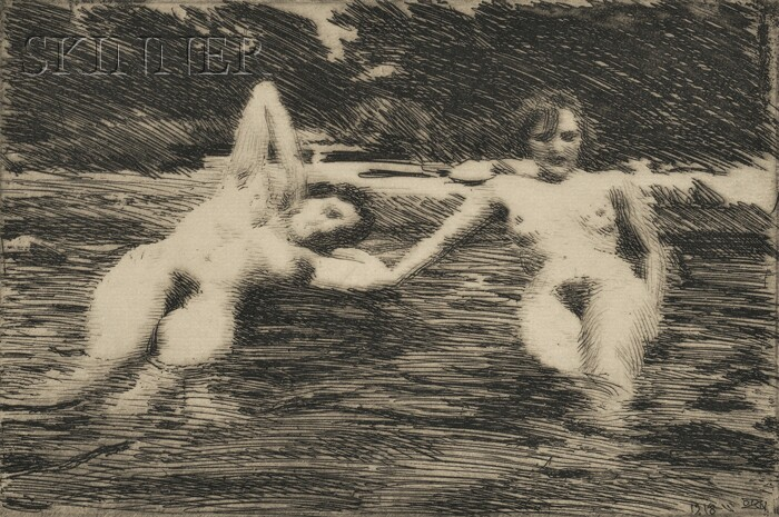 Anders Zorn (Swedish, 1860-1920)      Water-Nymphs