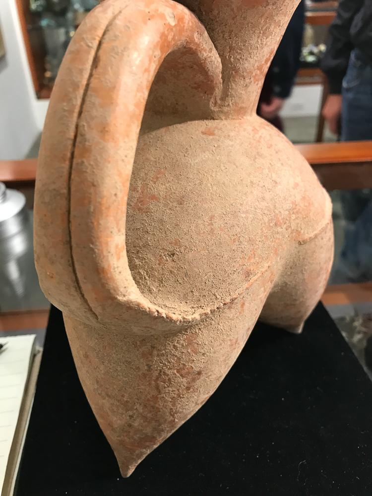 Red Pottery Tripod Ewer Gui