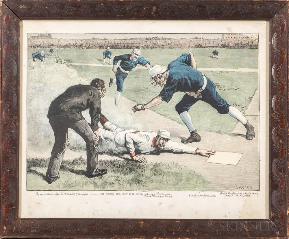 """""""The Winning Run"""" Framed Lithograph"""