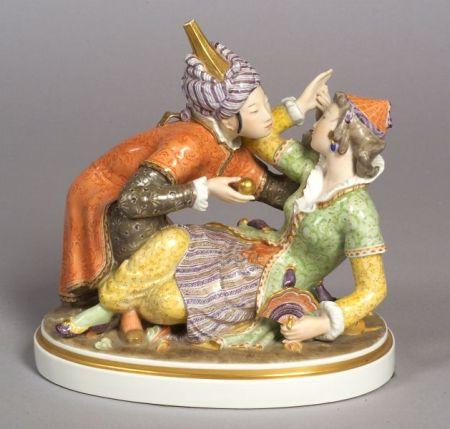 Royal Copenhagen Porcelain Exotic Figure Group