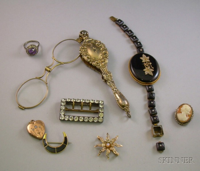 Group of Assorted Antique Estate Jewelry