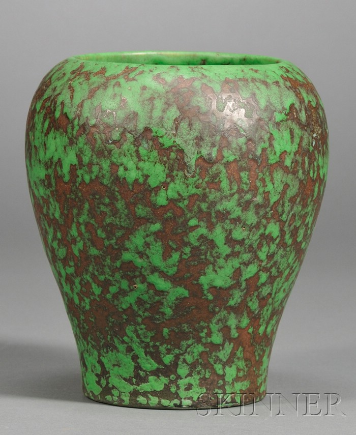 Weller Pottery Coppertone Line Vase