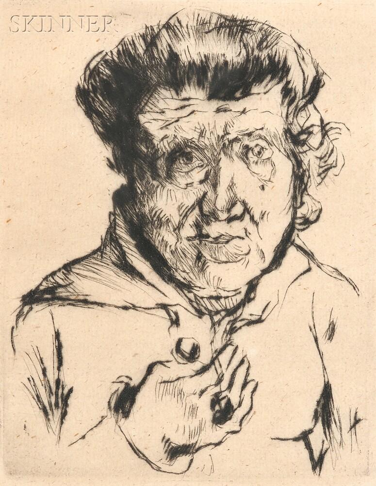 Lovis Corinth (German, 1858-1925)      Des Künstlers Schwiegermutter   (The Artist's Mother-in-law)