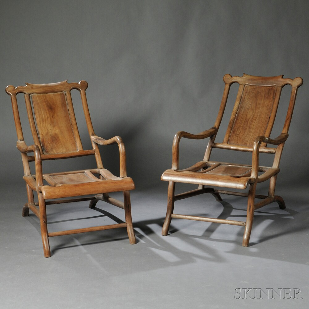 Pair of Moon-viewing (Reclining) Chairs