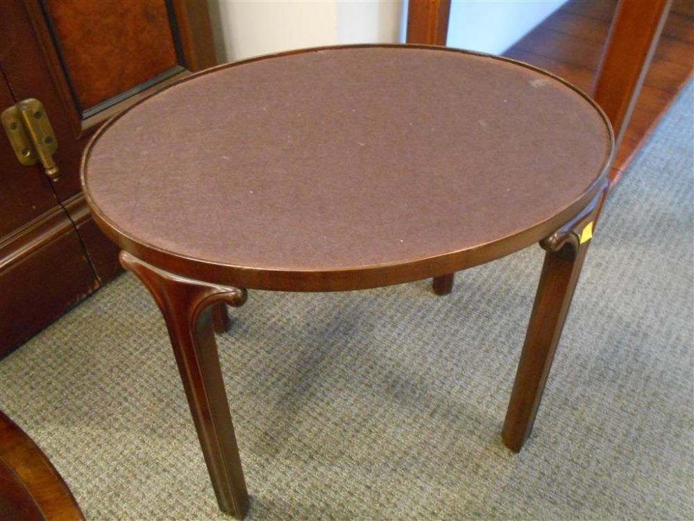 Mahogany and Brass Tray Table
