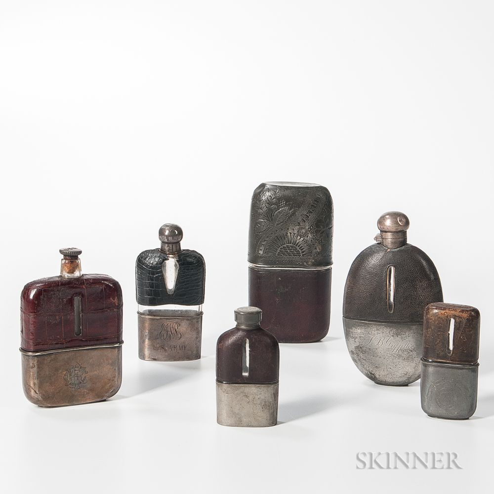 Six Military Flasks