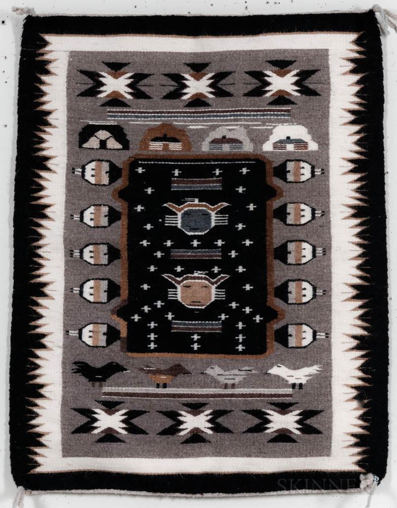 Contemporary Navajo Two Grey Hills Weaving
