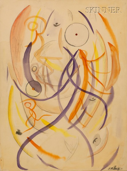 Abraham Walkowitz (American, 1878-1965)      Untitled