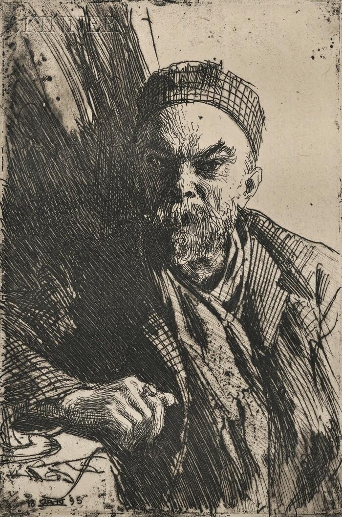 Anders Zorn (Swedish, 1860-1920)      Paul Verlaine II