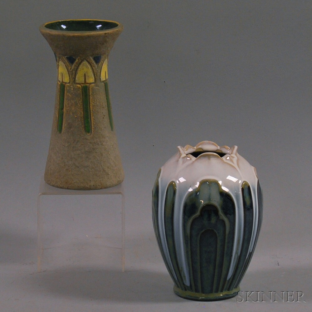 Two Arts & Crafts Art Pottery Vases
