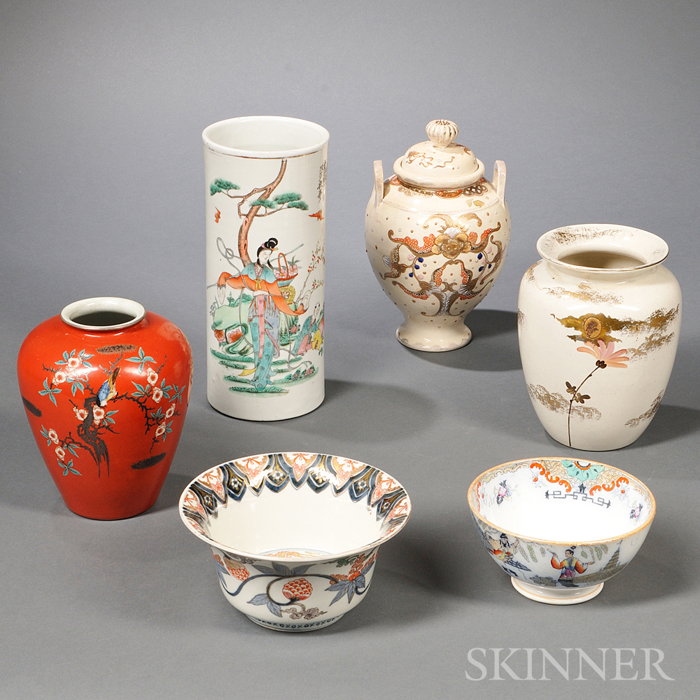 Six Asian Ceramic Items