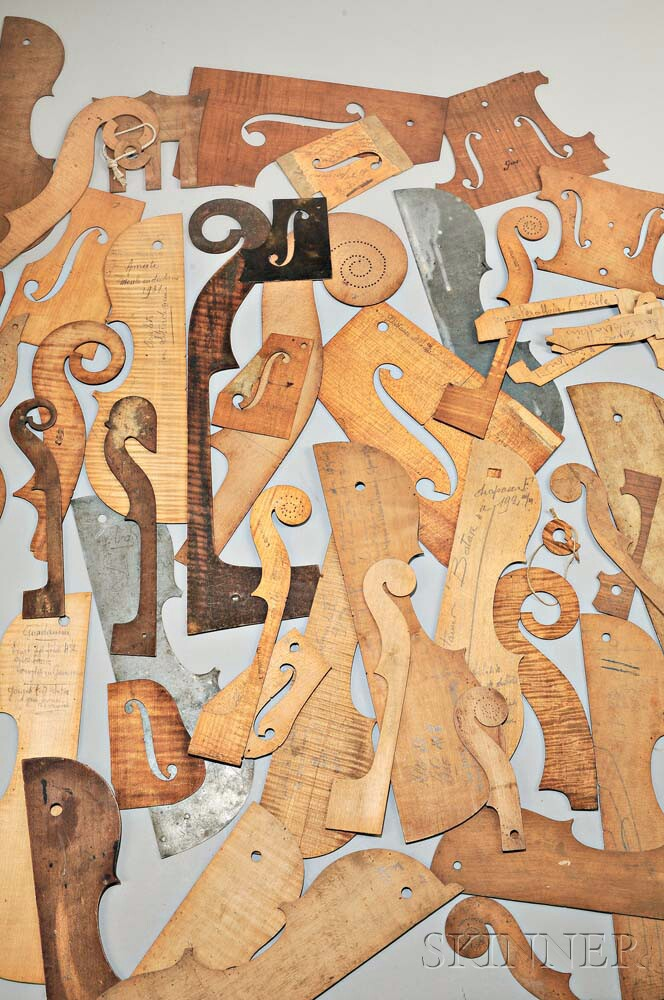 Assorted Wood and Metal Violin Templates