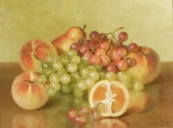 Bryant Chapin (American, 1859-1927)  Still Life with Fruit