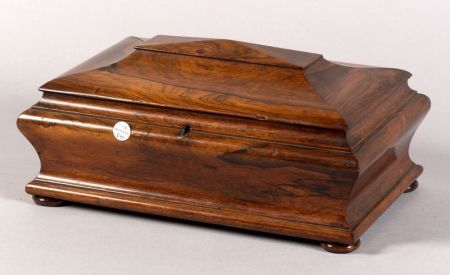 Regency Rosewood Sarcophagus Shaped Caddy