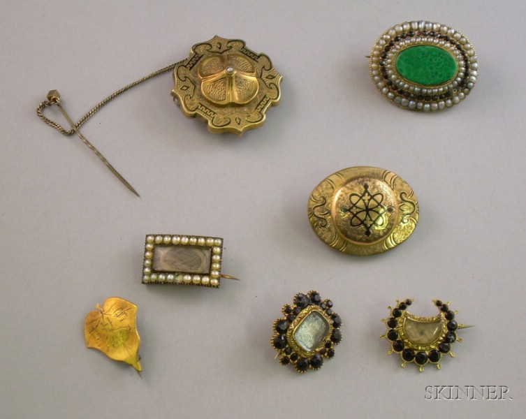 Group of Victorian Pins and Brooches