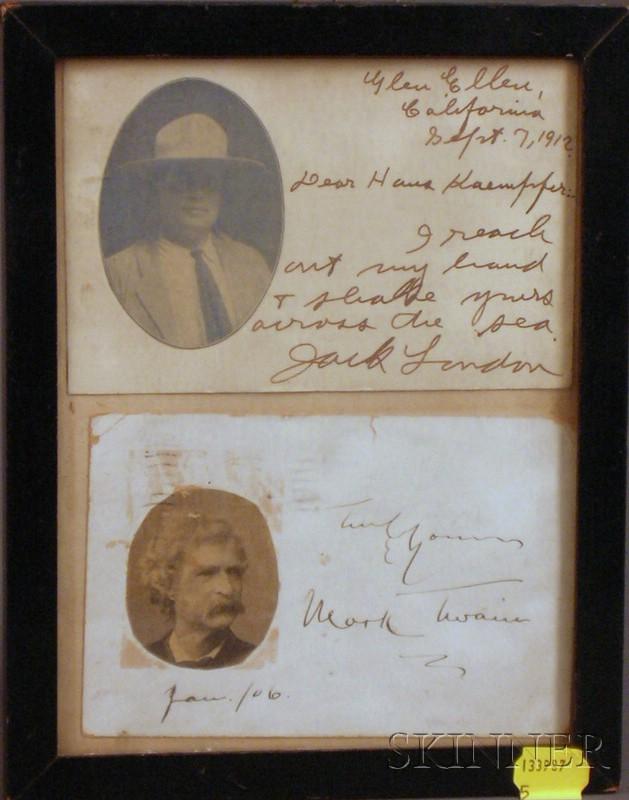 (American Literature), London, Jack (1876-1916) & Clemens, Samuel L. (1835-1910)