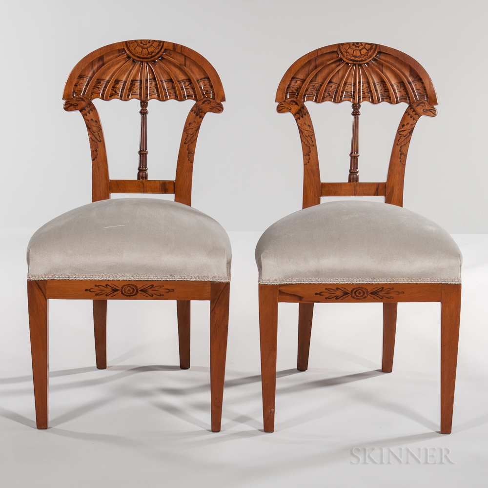 Set of Eight Charles X-style Side Chairs