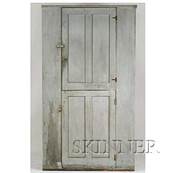 Gray-Painted Cupboard,