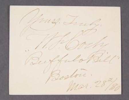 Cody, William F. ``Buffalo Bill'' (1846-1917)