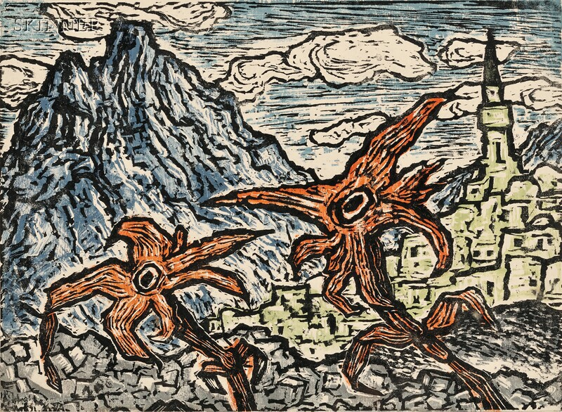 Jacob Steinhardt (German, 1887-1968)      Flowers Struggling