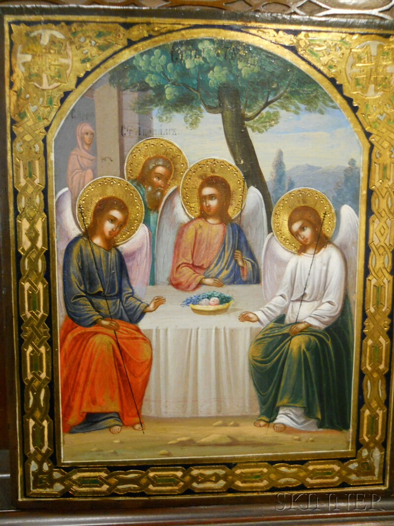 Russian Icon Depicting the Old Testament Trinity