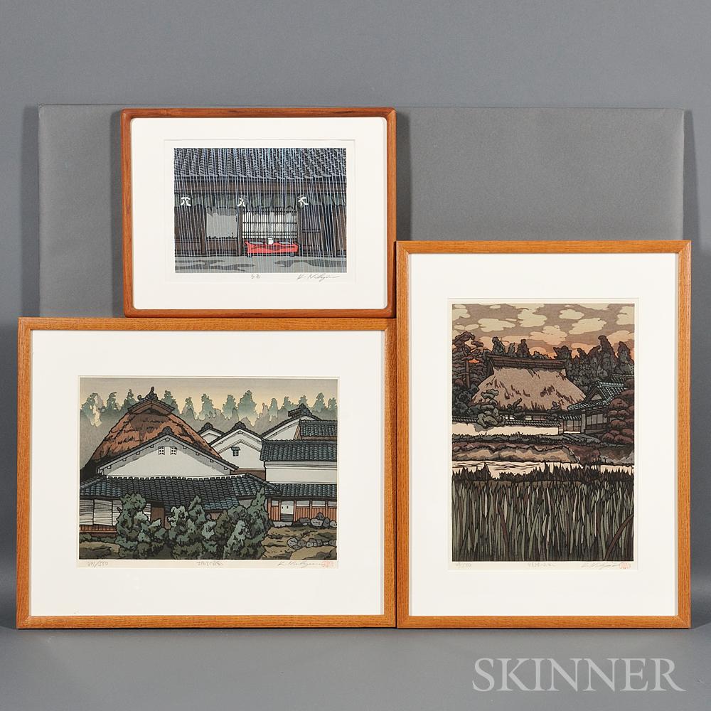 Six Katsuyuki Nishijima (b. 1945) Woodblock Prints