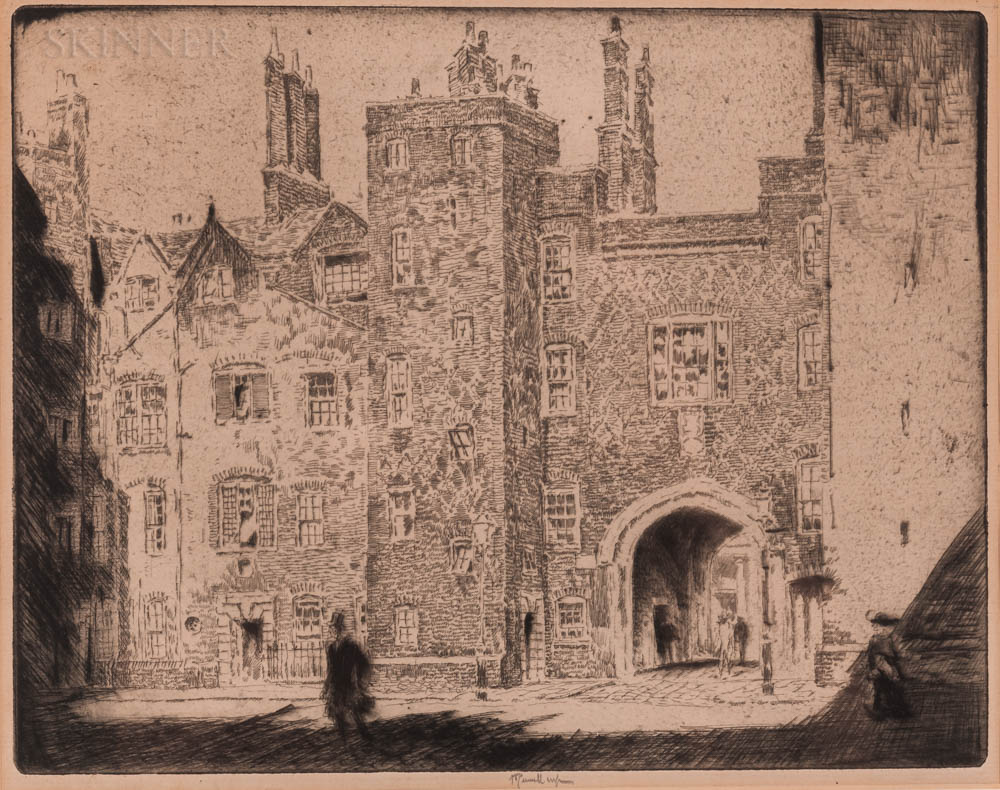 Joseph Pennell (American, 1860-1926)      Great Gate, Lincoln's Inn