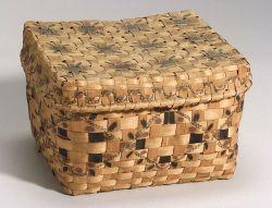 Northeast Painted Wood Splint Basket