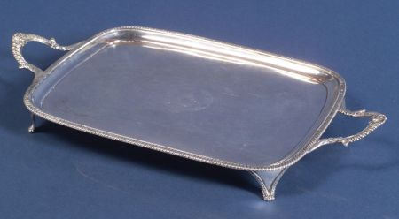 George III Silver Footed Tray