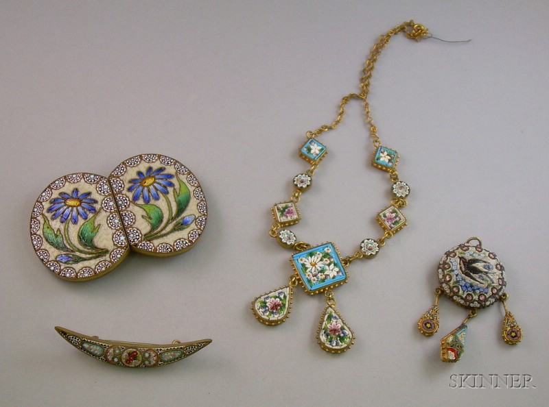 Group of Antique Micro Mosaic Jewelry