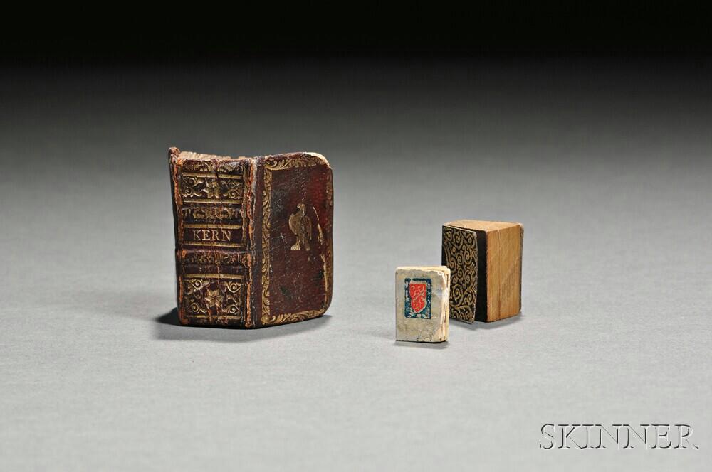 Miniature Books, Three Volumes.