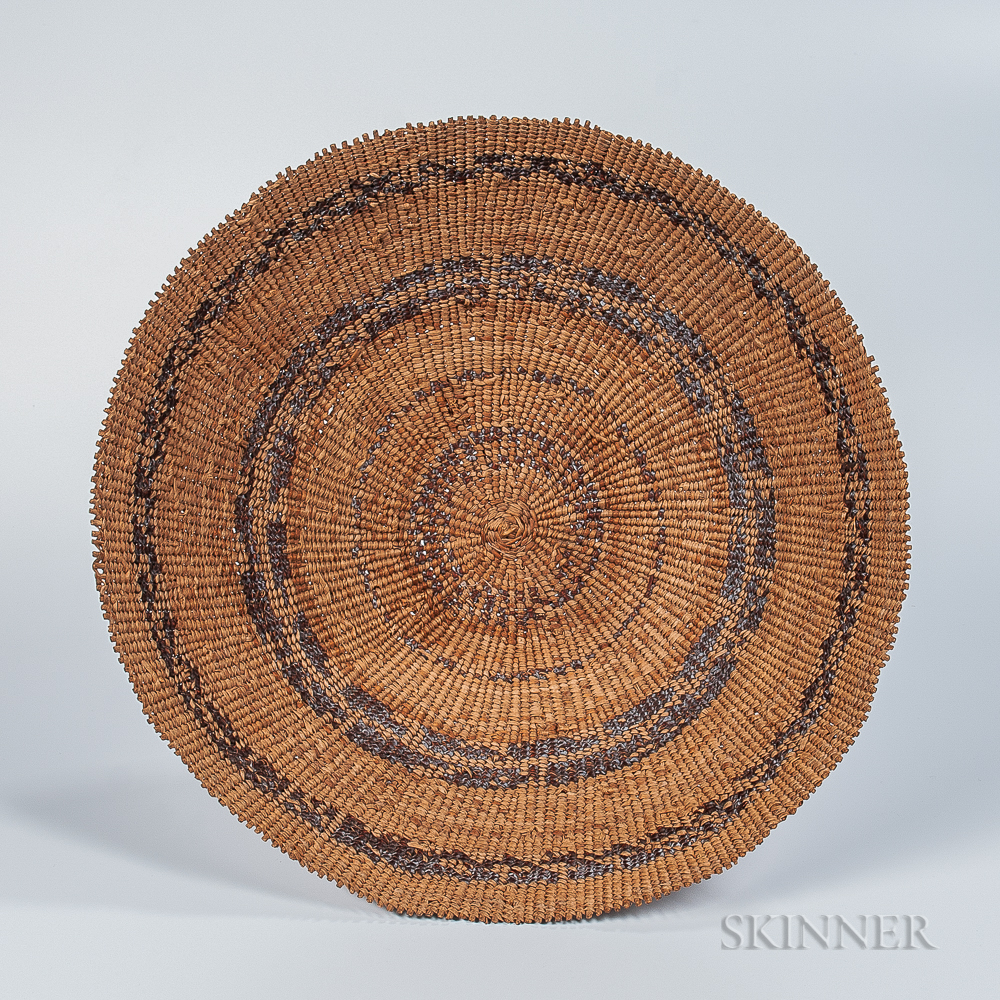 Pomo Basketry Winnowing or Sifting Tray
