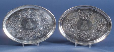 Pair of Irish George III Silver Teapot Stands