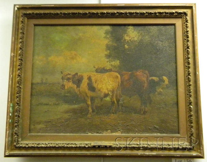 Henry Schouten (Belgian, 1857-1927)      Holland Cattle