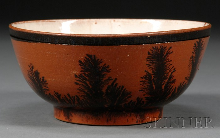 Redware Mocha-decorated Bowl