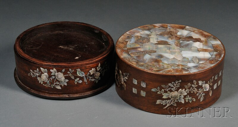 Mother-of-pearl Inlaid Box and Cover
