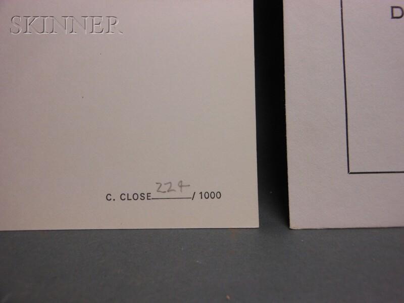 Chuck Close (American, b. 1940)      Phil