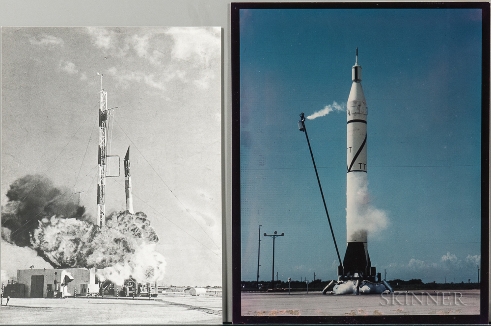 Project Mercury 7, Early Rocketry, Nine Photographs.