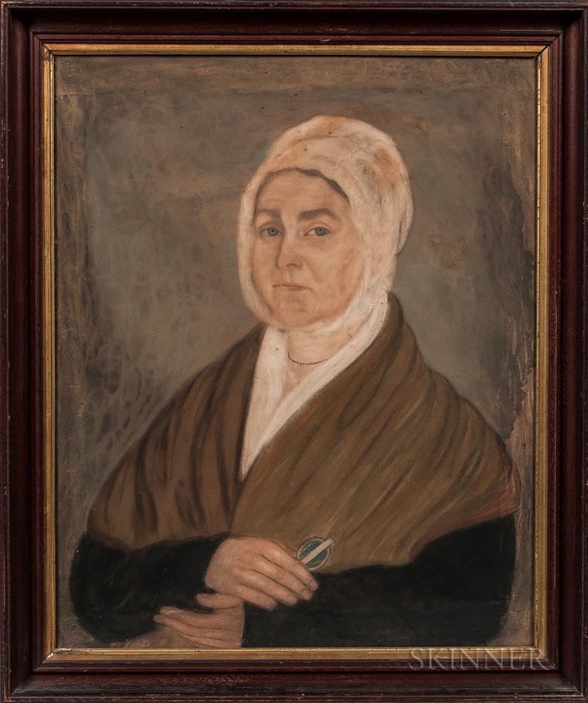 Micah Williams (New Jersey/New York, 1782-1837)      Portrait of Annette (Hannah) Hoogland Bogart