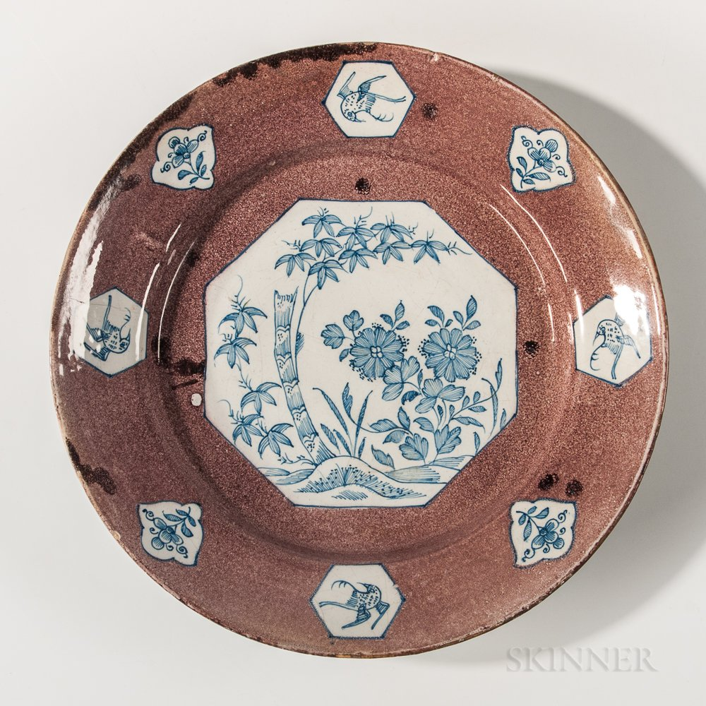 Manganese-decorated Charger