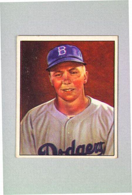 1950 Bowman Gum no. 21 Harold Pee Wee Reese Baseball Card.